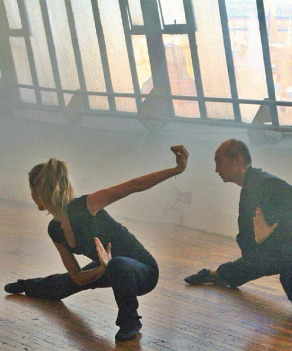 12. Gisele in the middle of tai chi class