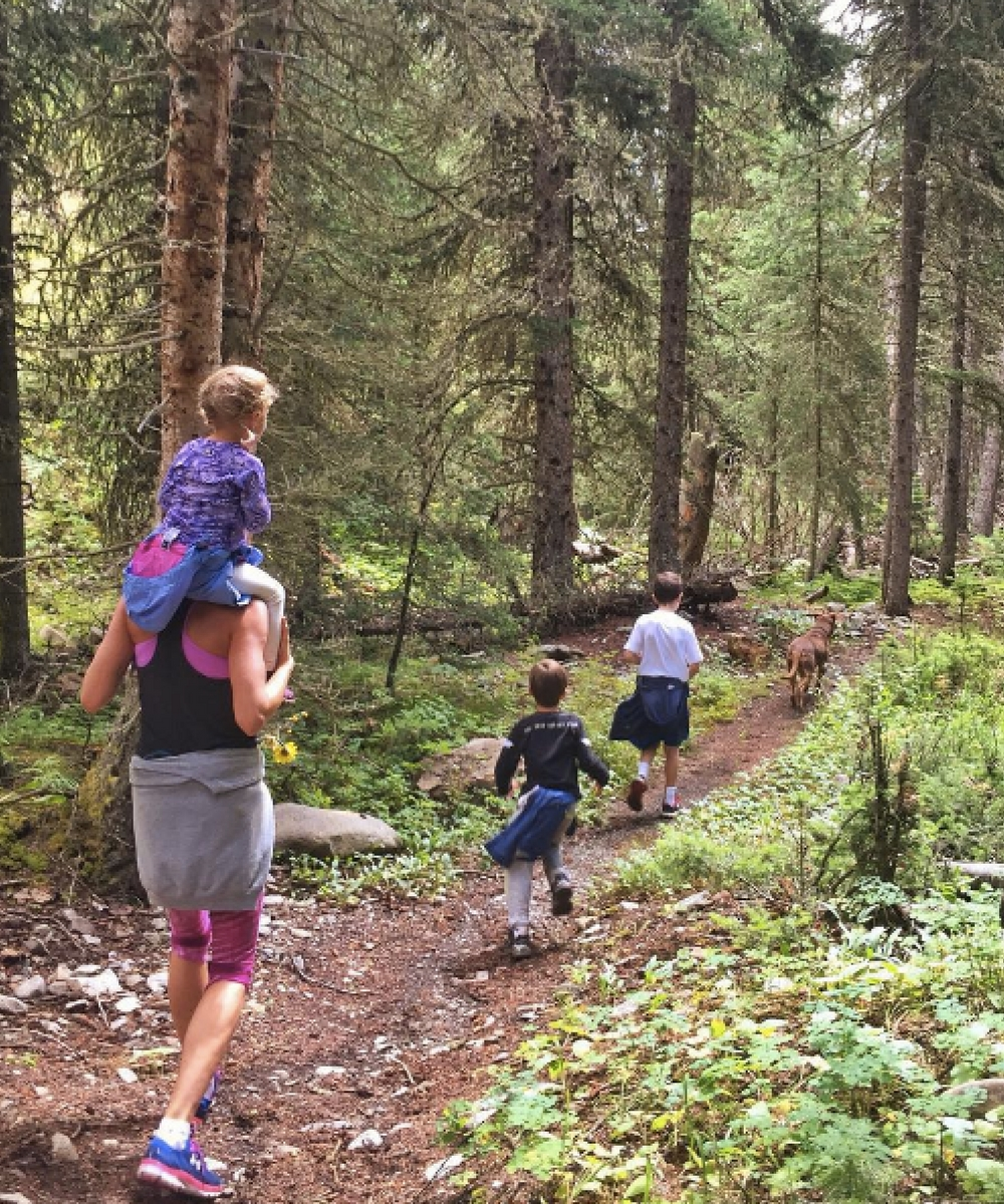 14. Forest walk with family