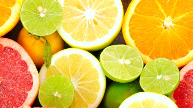 Citrus Fruits such as Oranges, Grapefruits or Lemons