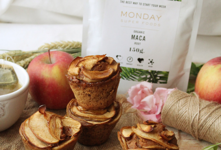 Maca Cinnamon Apple Muffins