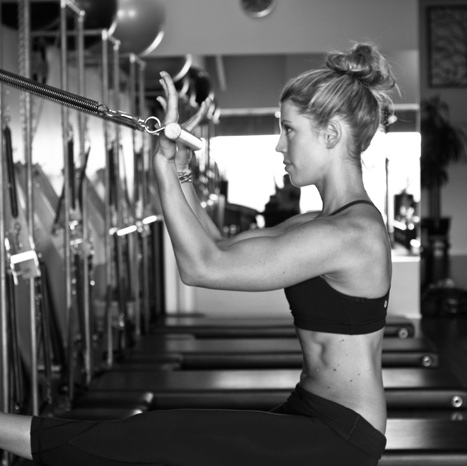 With Pilates you will work out not only your surface abs.