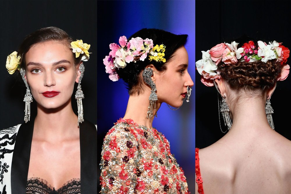 Naeem Khan: Floral Crown Braid
