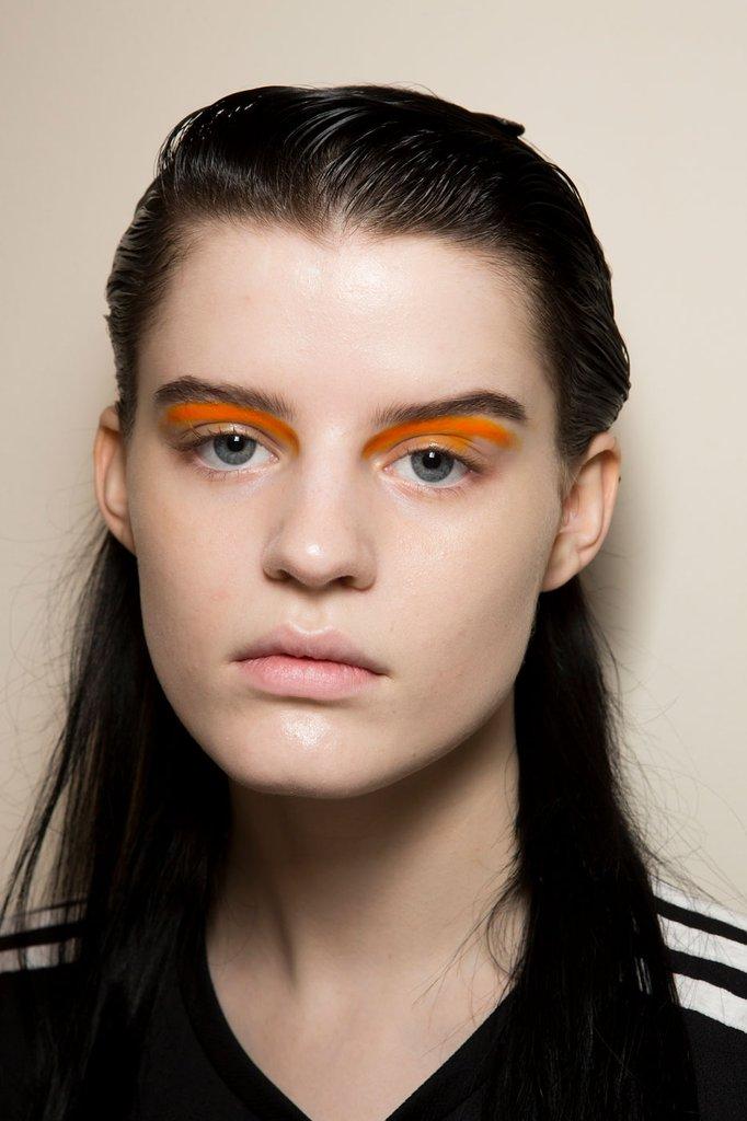 Ferragamo's orange shades and wet effect hair were perfection.