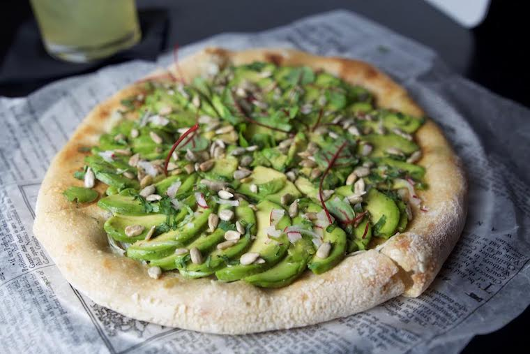 Vegan Avocado Pizza