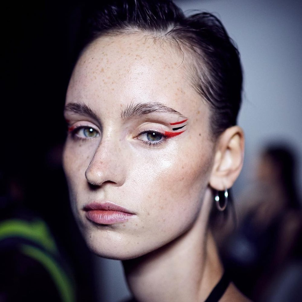 Triple graphic eyeliner from Prabal Gurung