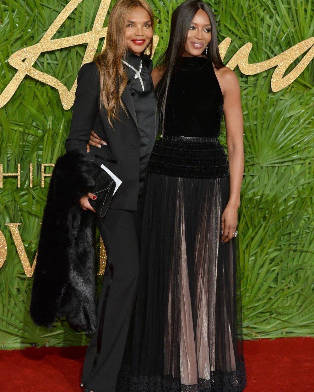 Naomi Campbell in Azzedine Alaïa and Bulgari jewellery.