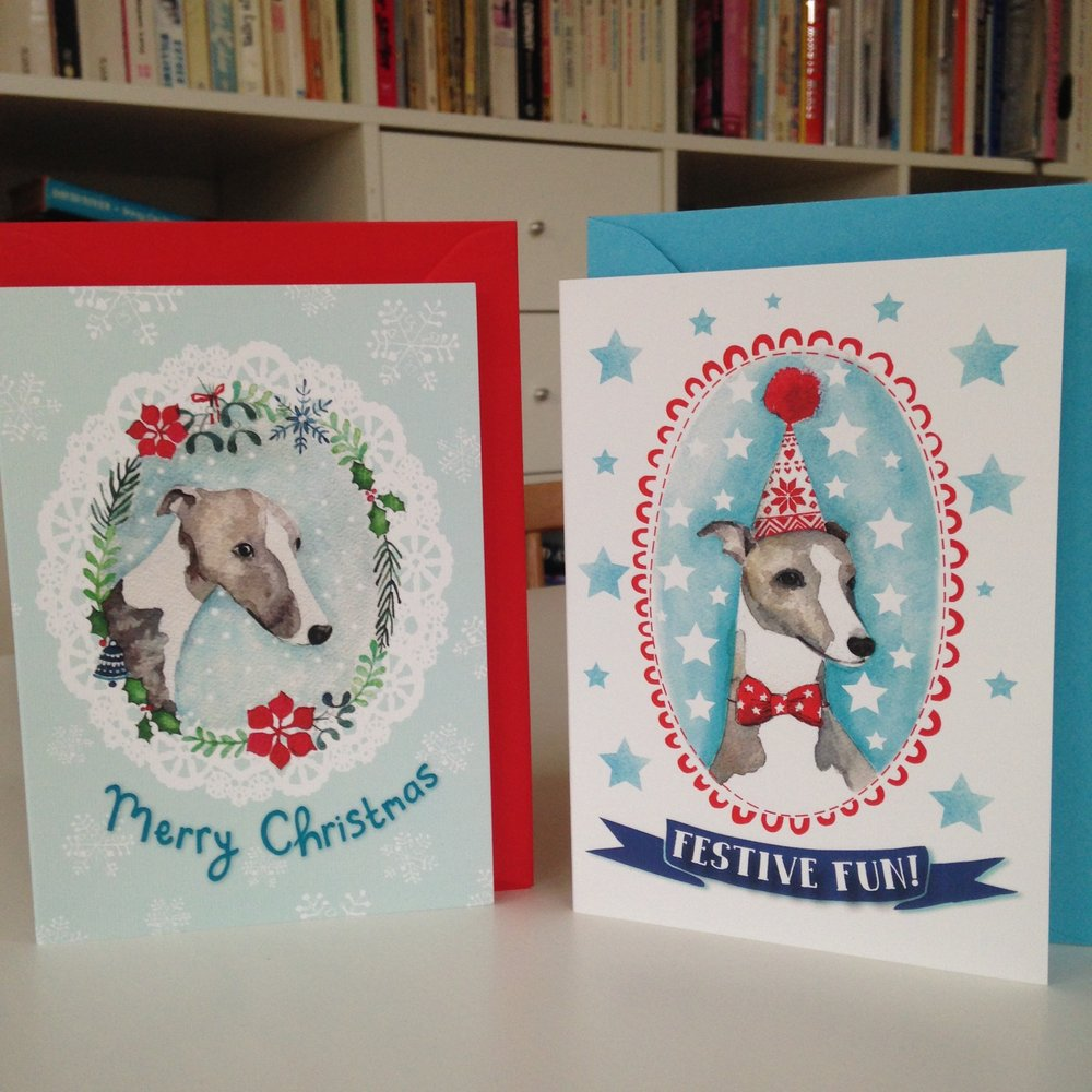 Whippet Christmas cards