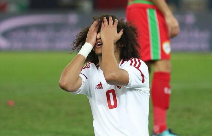 The 'Arab Messi' but not in the good manner of it. Amoory after missing one of the two penalties vs Oman in the Gulf Cup final (Al-Wast)
