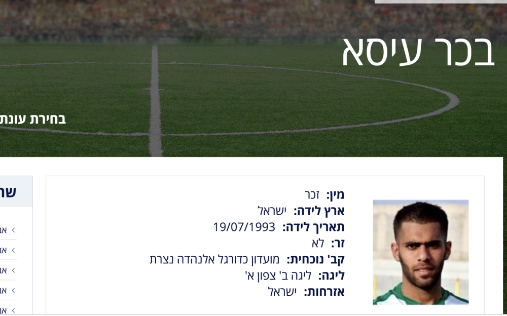 Bakr Eissa's profile in the Israeli Association website (IFA)