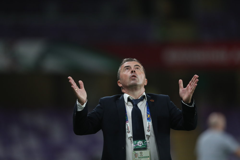 Lebanon's coach, Miodrag Radulovič. Will look for points & goals elsewhere.  Photo: 2019 Asian Football Confederation (AFC)