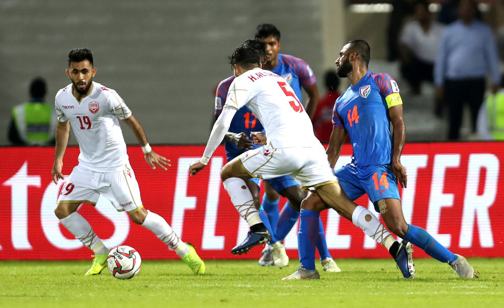 Pronay Halder's leg in the wrong place (Asian Football Confederation (AFC))