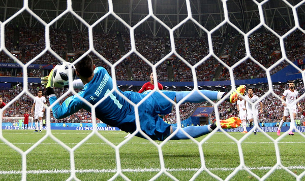 Alireza Bieranvand, saves Iran by his fingertips (Jan Kruger/REMOTE/Getty Images Europe )