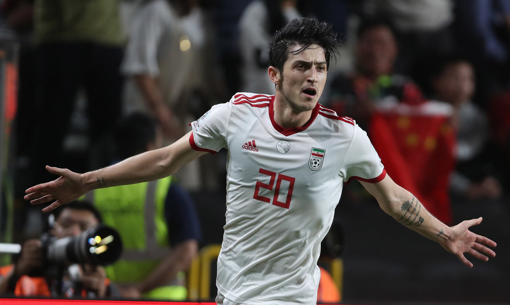 Sardar Azmoun, hitting the net time after time (Asian Football Confederation (AFC))