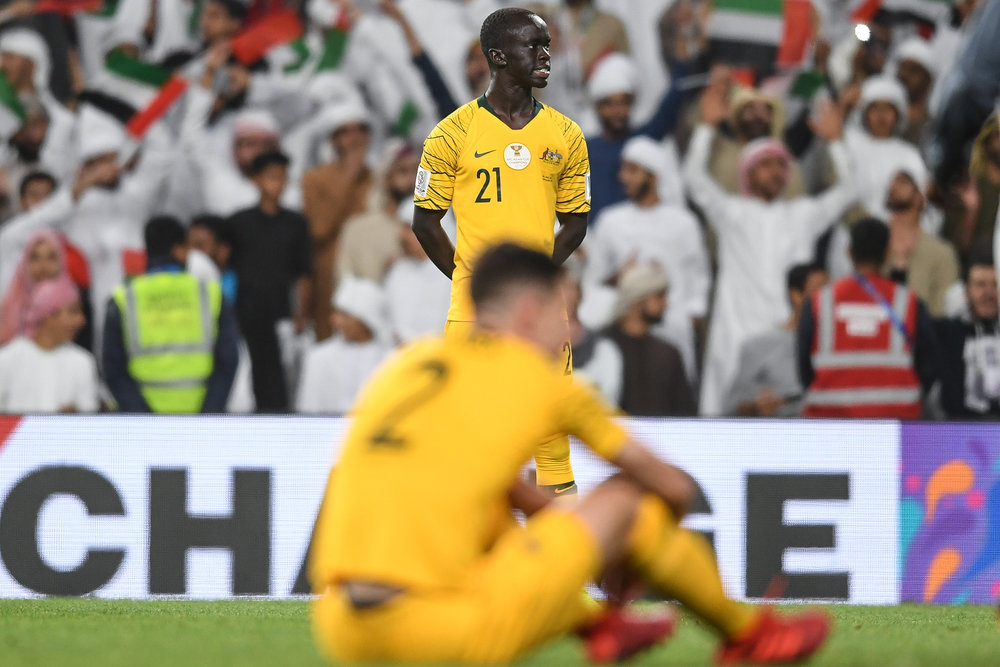 Awer Mabil and Milos Degenek, Australia will need to keep their rebuilding for the future (Asian Football Confederation (AFC))