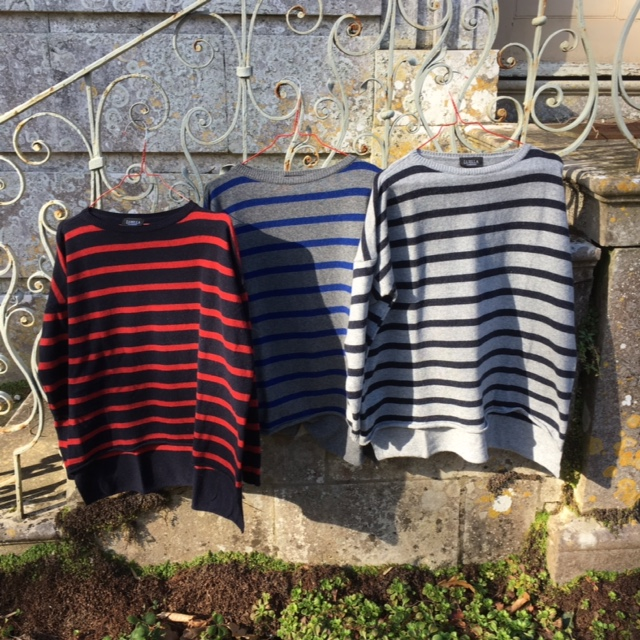 Stripy cashmere jumpers, all £58