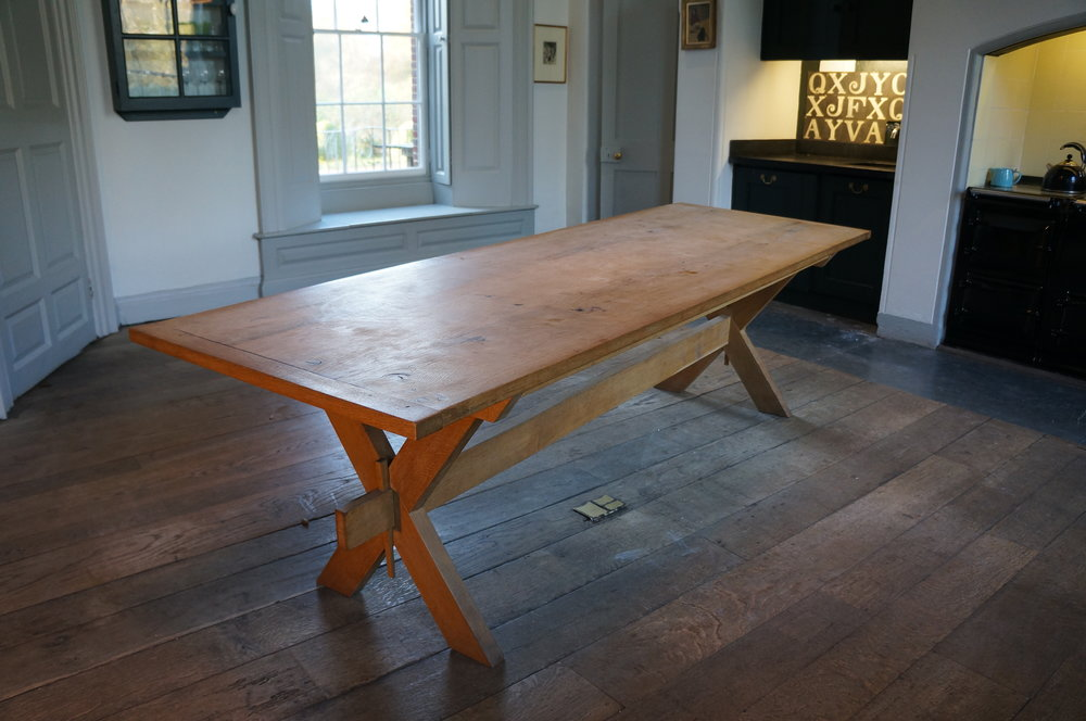 Table made from Deans Court oak. Made on request - please contact us for details.