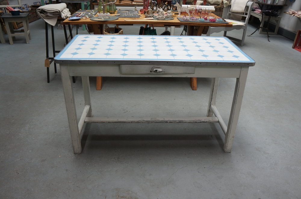 1940's French enamel table, £350