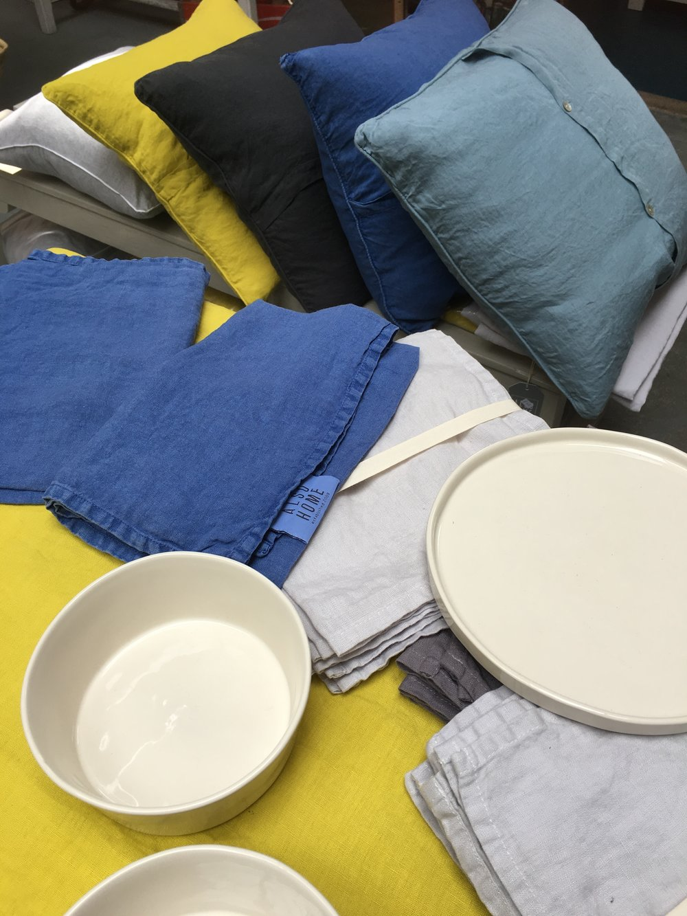 Also Home linen tableware, cushions and ceramics