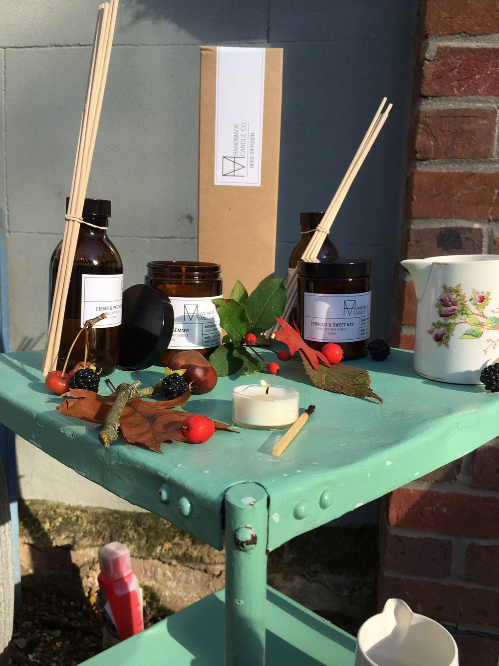 The Handmade Candle Co candles and diffusers