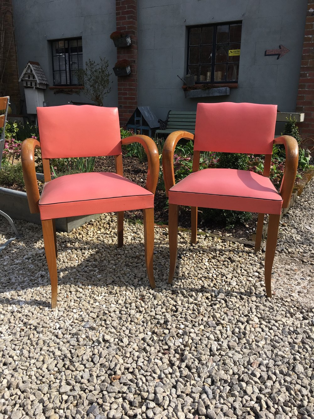 French 1940's Bridge Chairs in their original upholstery