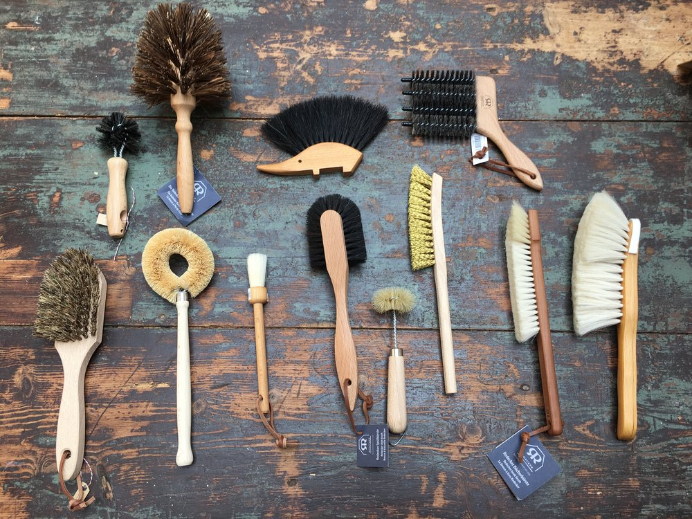 A good selection of household brushes