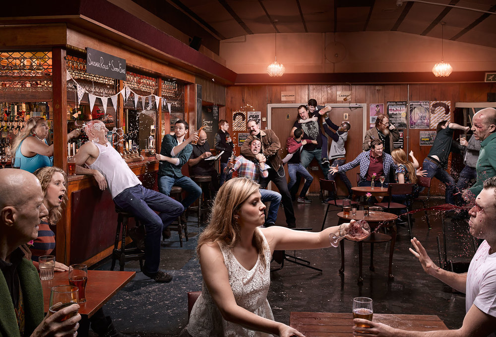 Creative Shot Of A Bar Fight By Mark Griffiths Photography