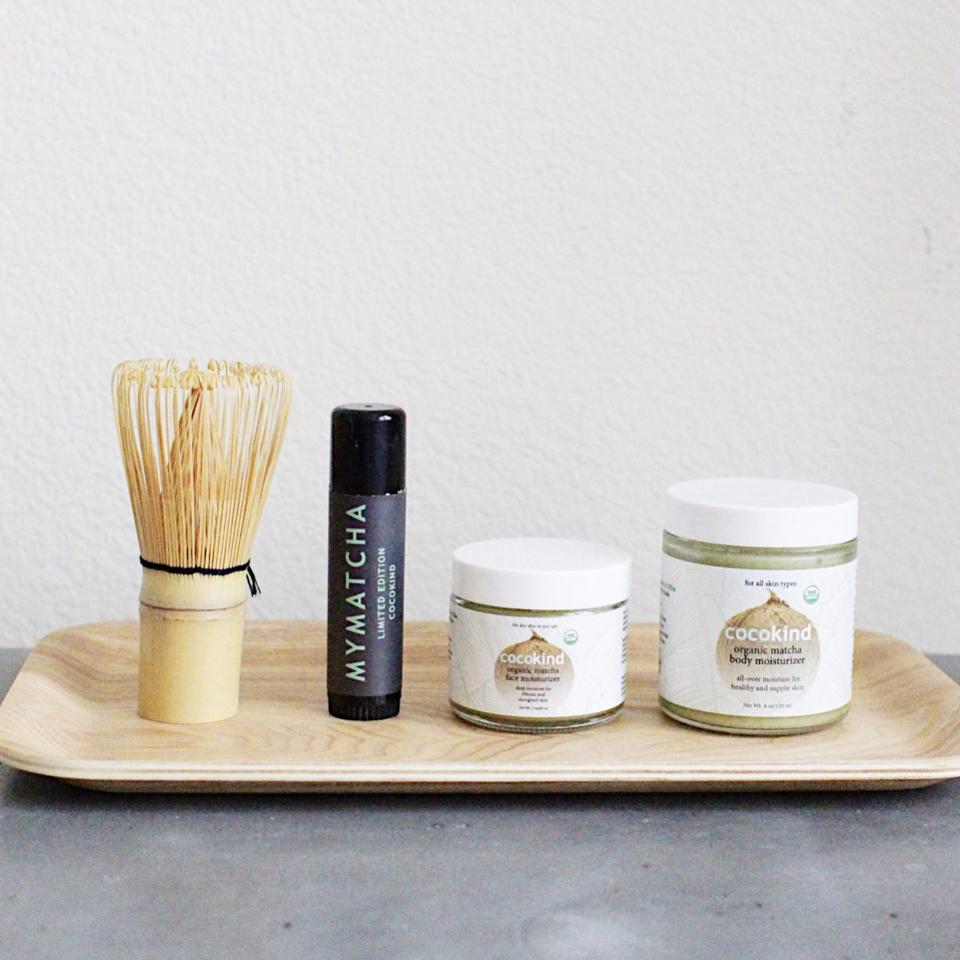 Matcha-based products, (Photo credit: Cocokind)