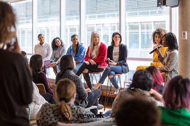 Last Saturday we hosted the first edition of #InfluenceHER in partnership with @influenceorbis & @weworkcanada. Thank you to all who attended for making this first of many so incredibly special. Thank you to our inspiring panelists & amazing workshop leaders for sharing their experiences & knowledge with us; & thank you to @copperbranch, @flow, @kickinghorsemtn, @redbullcanada, @pur_vodka, & @romeosgin for providing us with the fuel to keep us going from 10 am to 7 pm 😩 | PC @tora.photography ✨ #WomensMonth