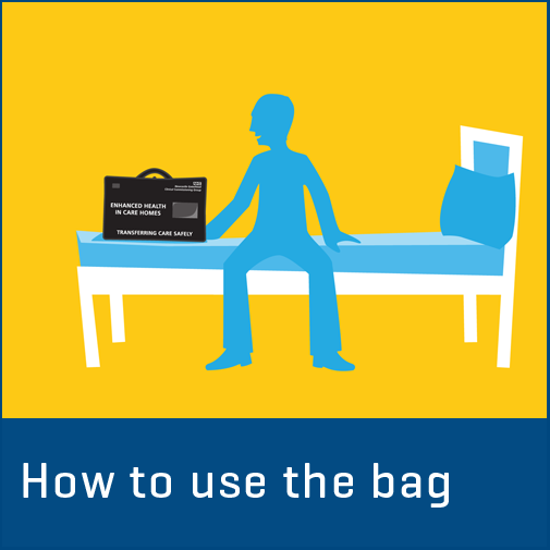 How to use the transfer of care bag