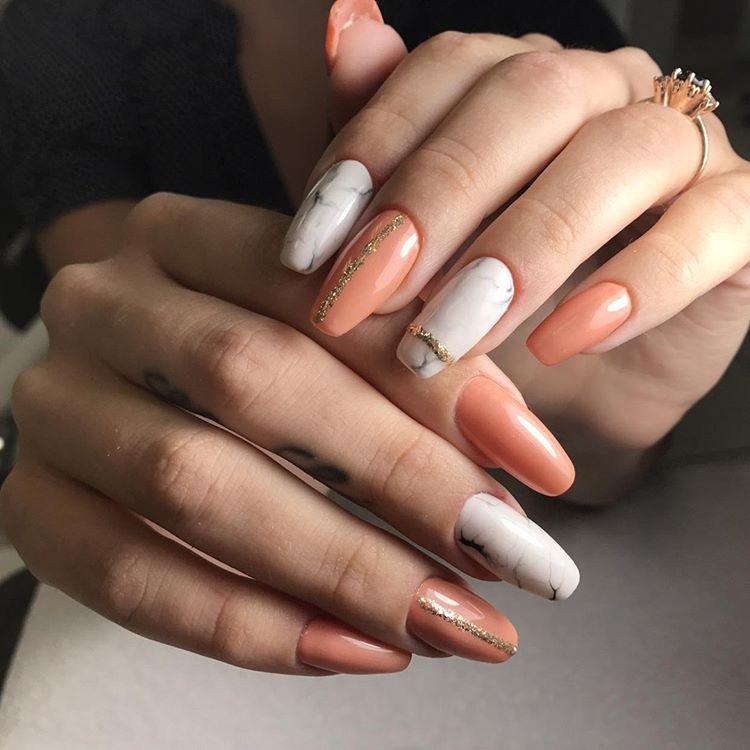 Marble Mani from Ellada Salon
