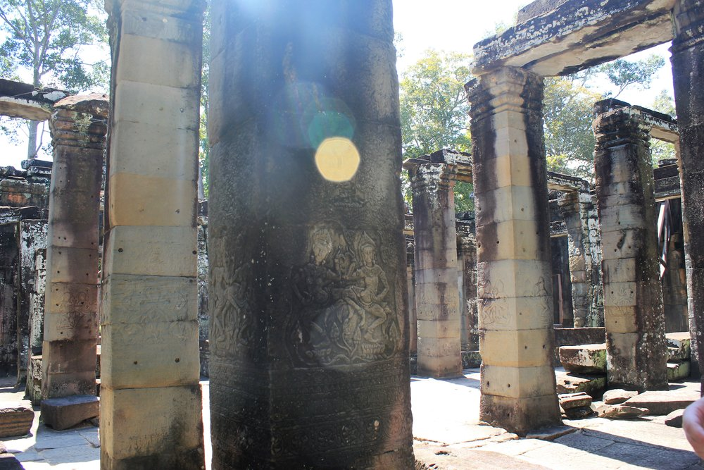 The sun in Angkor Wat