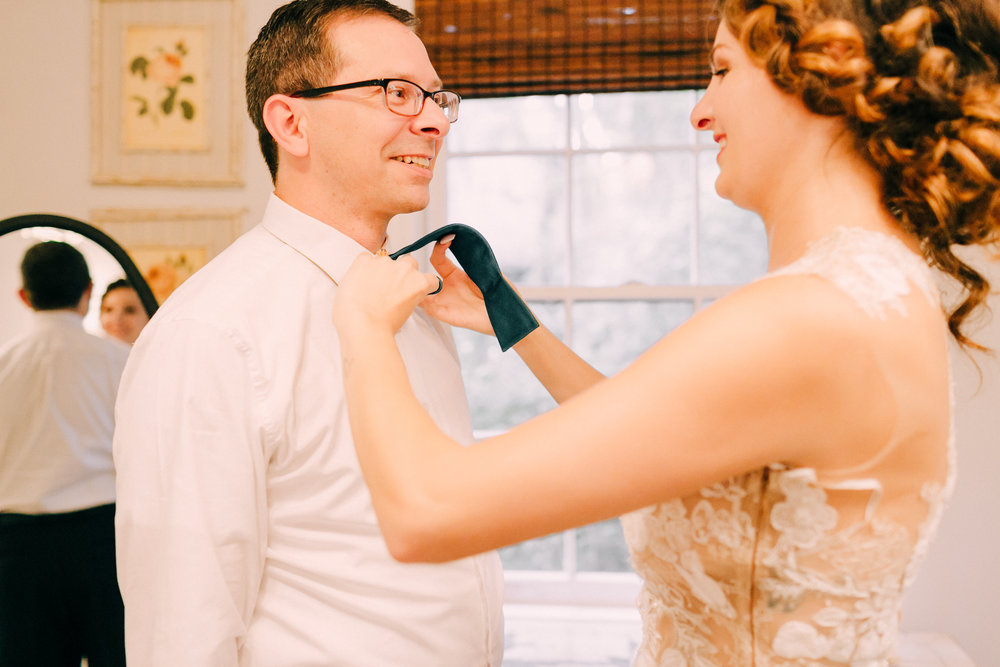 Father Daughter Wedding getting Ready bowtie