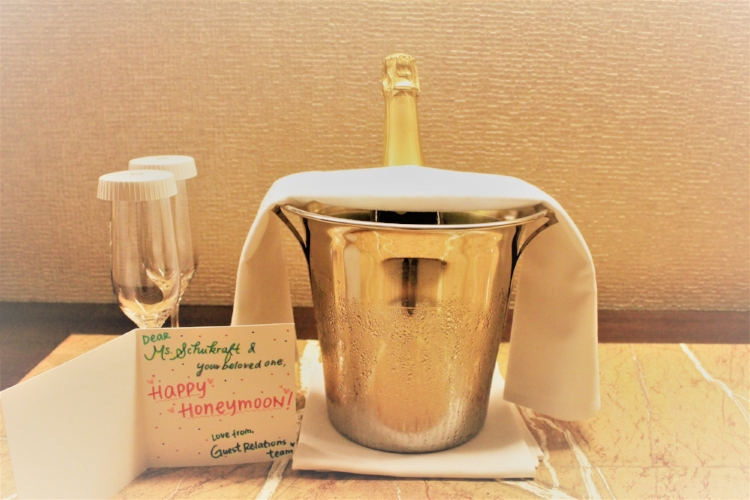 Champagne Welcome at Hotel Icon
