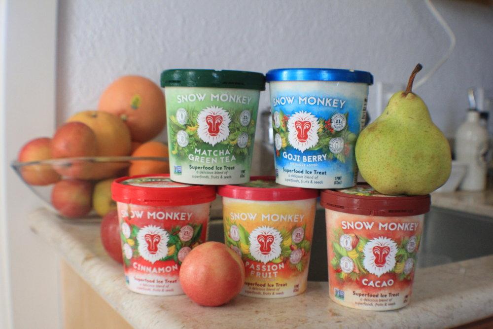 Snow Monkey Frozen Icea Treats - vegan, gluten free, and organic!