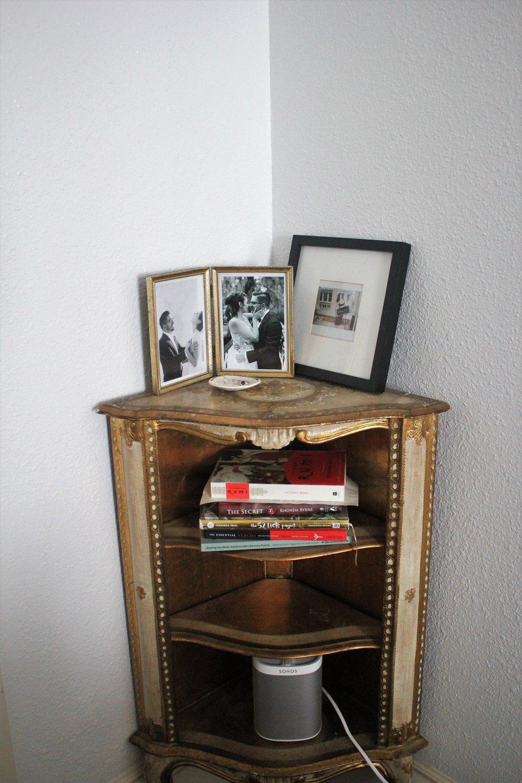 Bedroom Storage for the Sonos and Photos via Que Sera Sahra