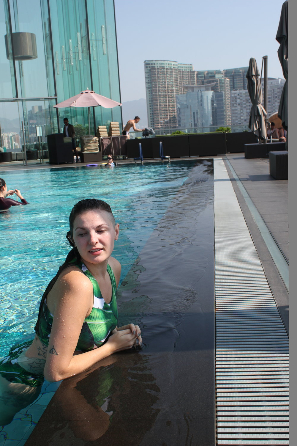 Swim up at the Hotel Icon in Hong Kong