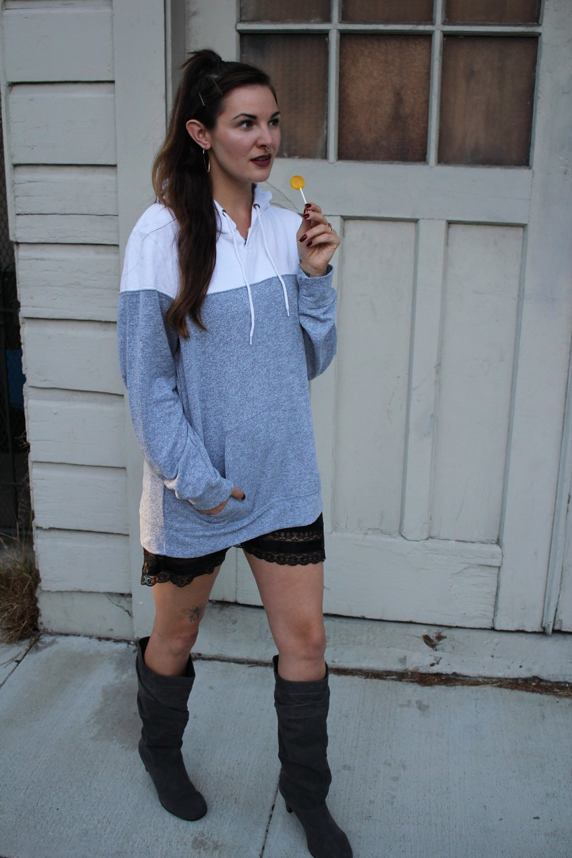 Ariana Grande thrifted budget costume