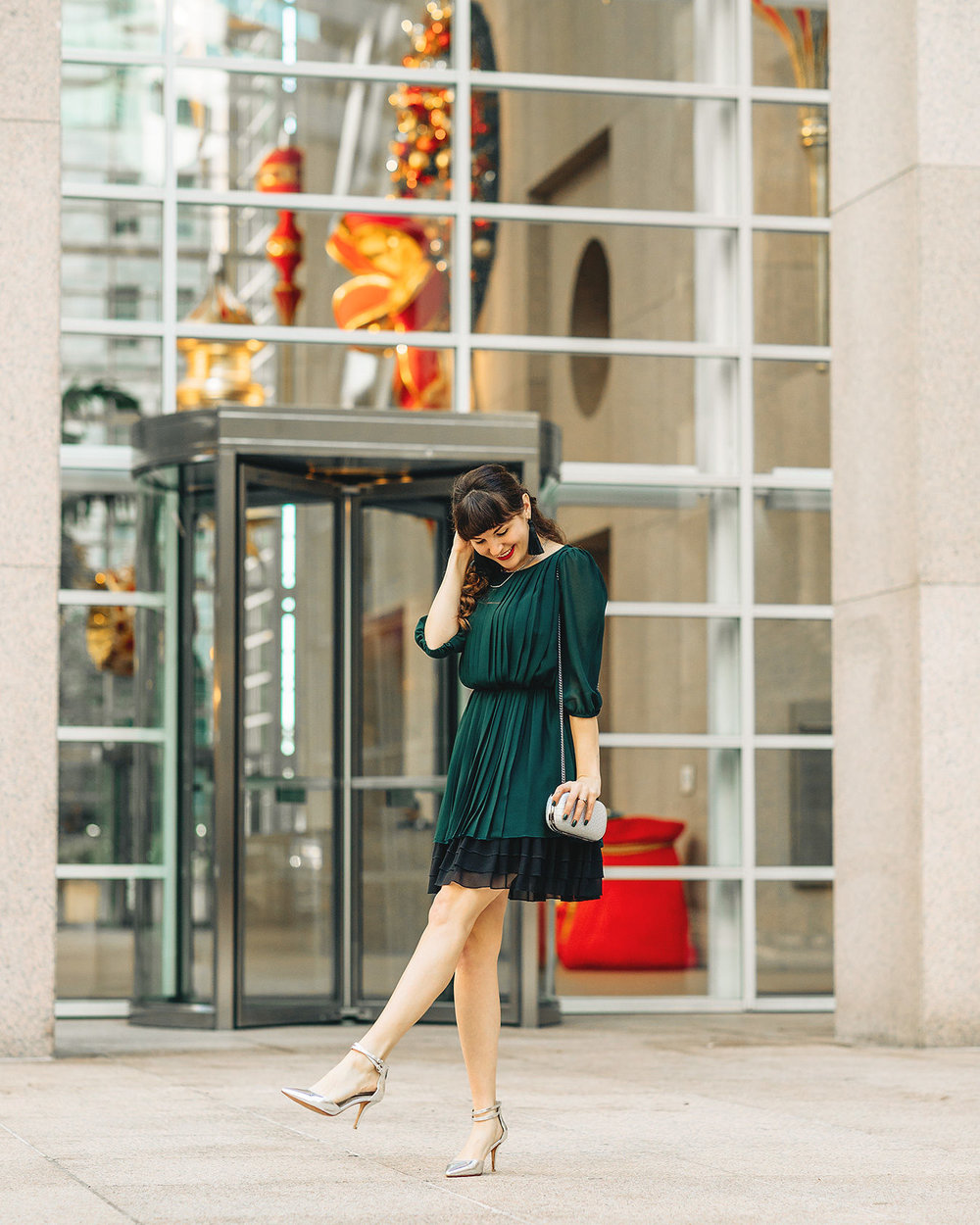 Sahra - SF Style Blogger Sharing Thrifted Holiday Outfits