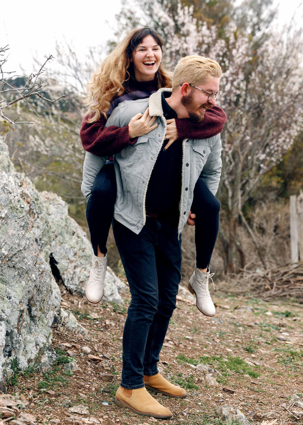 Cute Fun Hipster Couple Engagement Shoot
