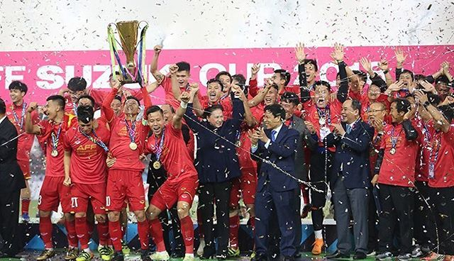 Congratulations Vietnam on winning the AFF champion trophy! #proudViet #affsuzukicup