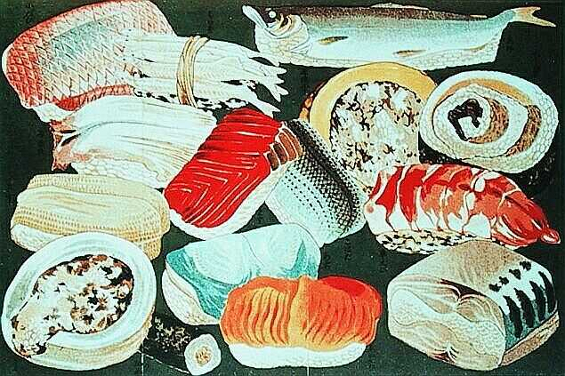Sushi of Tokyo in 1800s