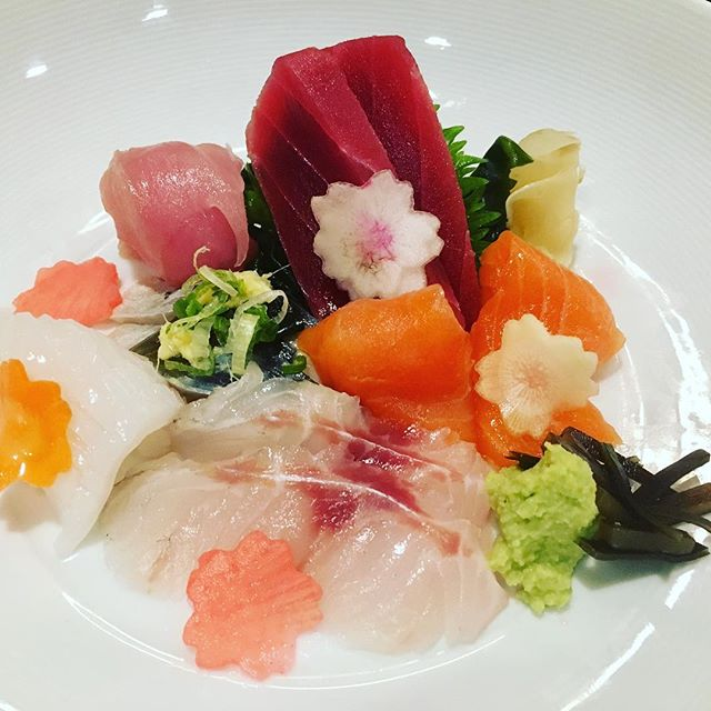 Cherry blossom has almost gone 😢 but our Sashimi dish is in full bloom 🌸