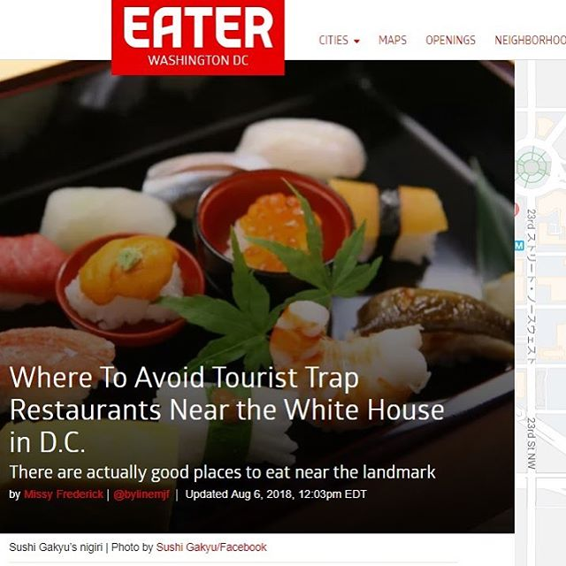 @eater_dc, @bylinemjf, thanks for choosing us as a NOT Tourists Trap Restaurant! https://dc.eater.com/maps/white-house-dining-guide-dc