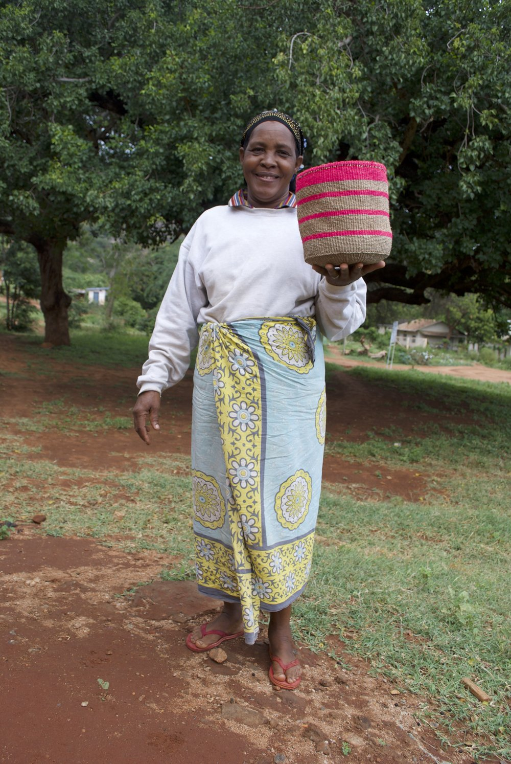 """""""One of the problems we as basket weavers face is a lack of market. We weave many baskets but we lack customers to sell them to.If this is looked into it will go a long way in improving our standards of living."""" -  Grace, Amani Basket Weavers"""