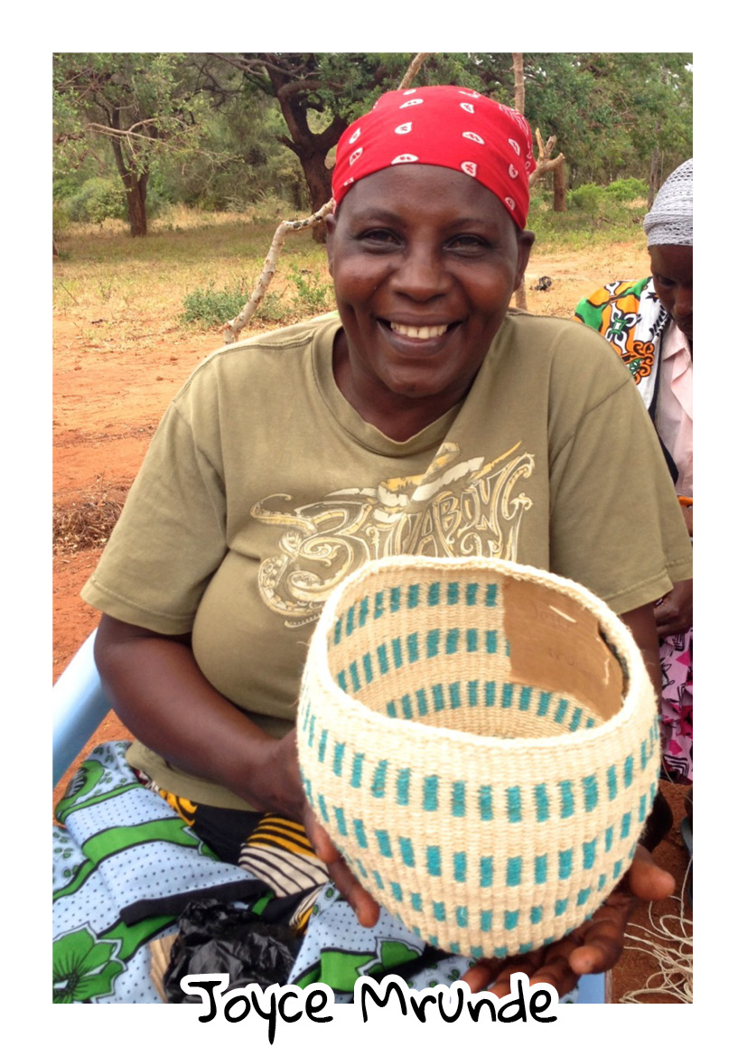 """"""" Amani Basket weavers is a group aimed at uplifting the living standards of women. It has exposed women to matters like table- banking whereby women can access loans from groups they have formed at a reasonable interest rate.From basket weaving I have been able to start a business and keep poultry.  Joyce- Amani Basket Weavers"""