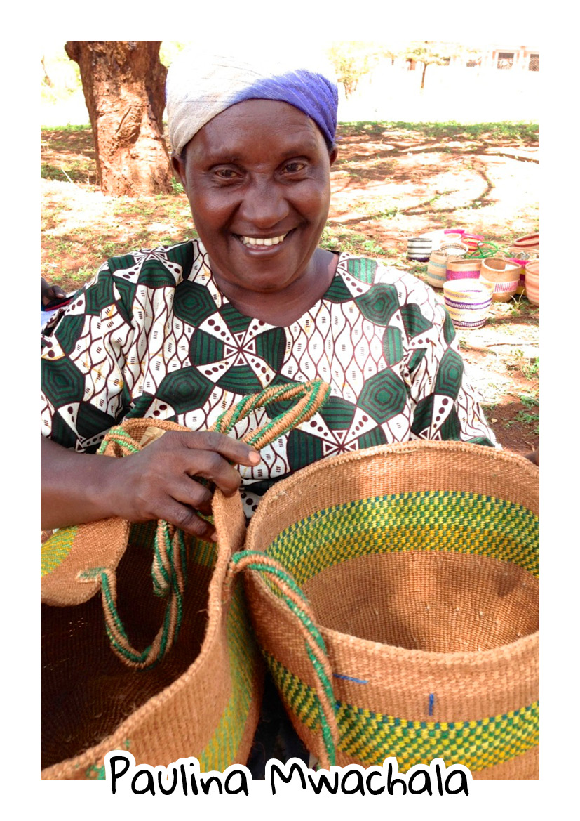 """I was born in Kasigau and I joined Amani Basket Weavers so that I may get some money to cater for my family's needs which includes food (of which my favourite is Ugali 😁 ) and educating my children and grandchildren.""  Pauline - Amani Basket Weavers"