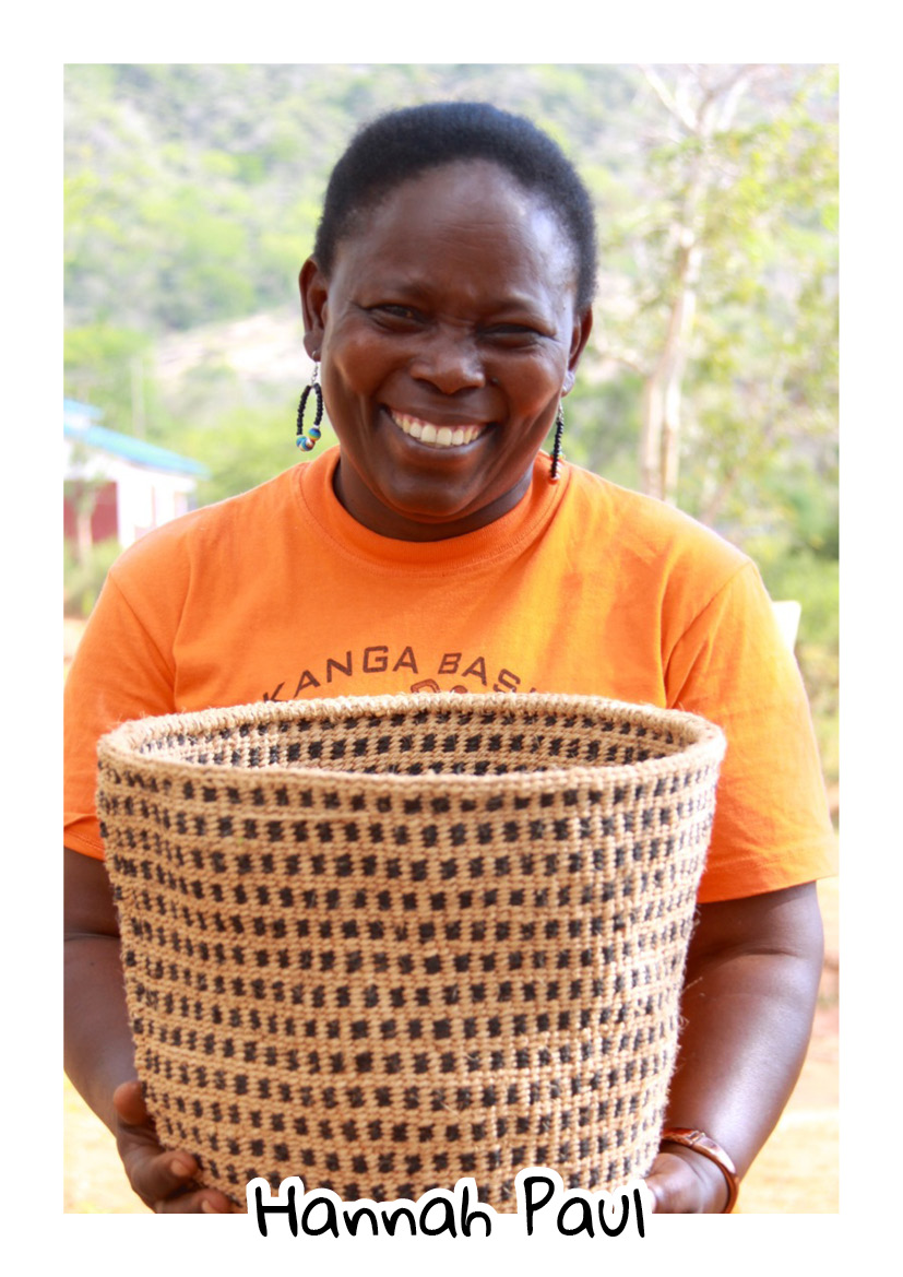 """""""My greatest achievement is putting my three girls through high school with the income I've made from basket weaving. They all have high ambitions now: one wants to be a journalist, one wants to be an accountant and the other a teacher. It makes me very proud."""" -  Hannah Paul - Rukanga"""