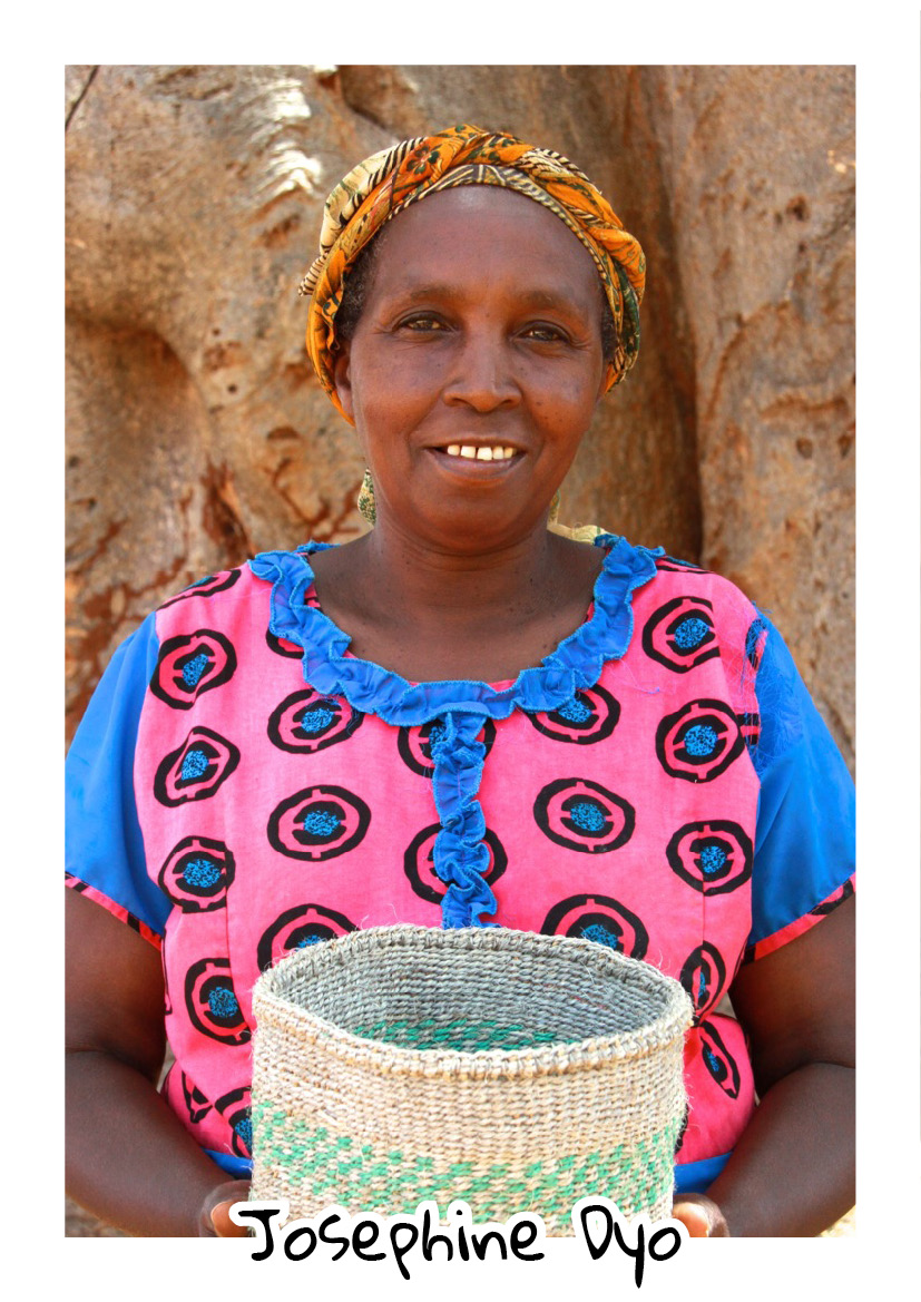 """""""I'm originally from Kangudo in Machakos county, and moved to Bungule in 1976 when I got married. My husband retired in 1991, but since then he has not been contributing much to the family as he's been pursuing mining gold. He's hardly ever home and hasn't been successful for the many years he has been there, so my family is left to depend on me.""""  """"Comparing the men of Bungule and Kangundo, where I'm from, I would say the men from Bungule are very lazy!""""-  Josephine Dyo - Bungule"""
