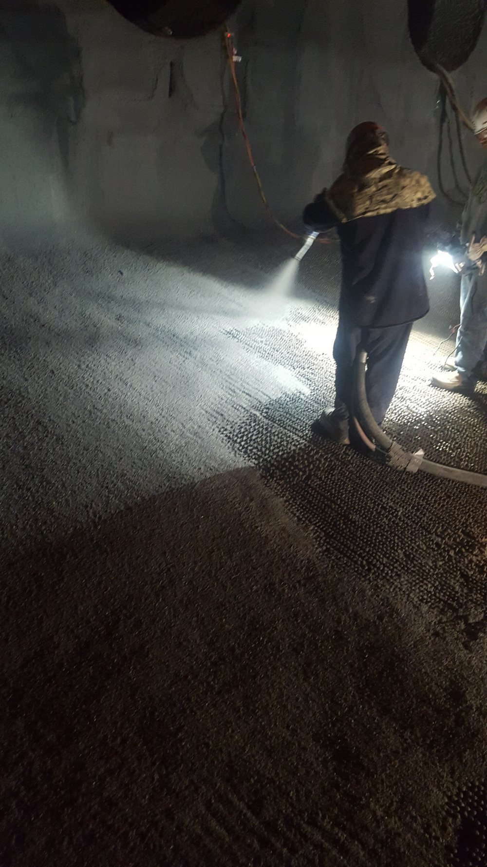 Boiler Floor Shotcrete