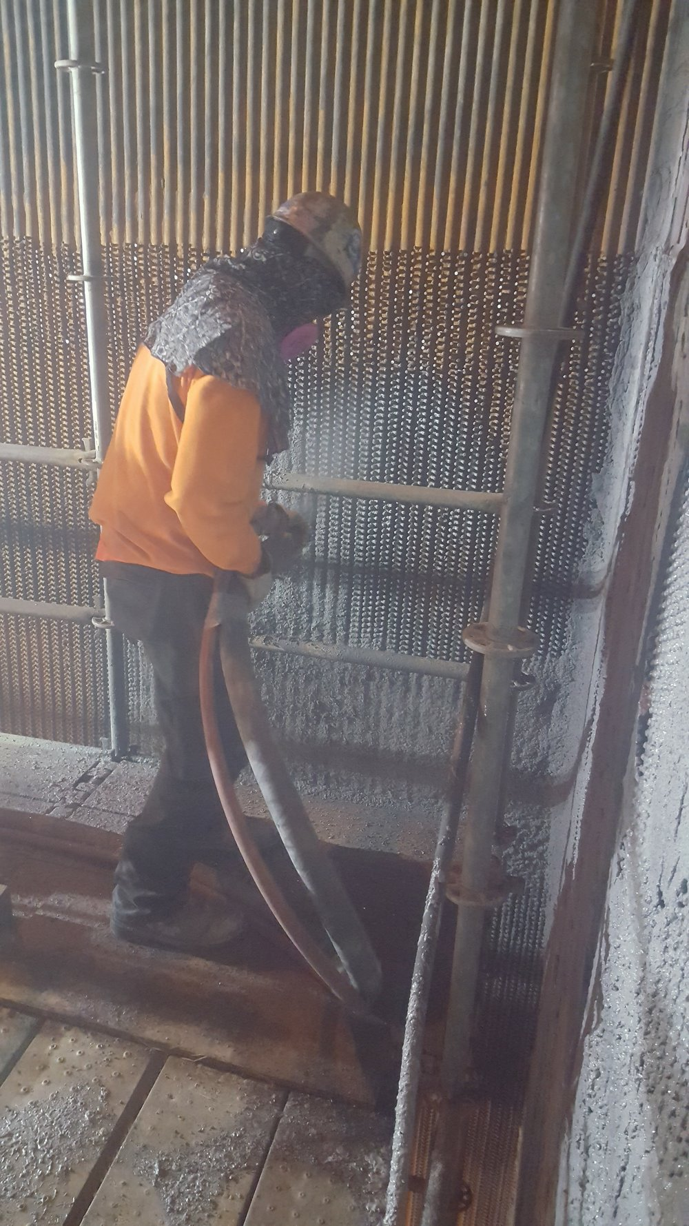Boiler Walls Shotcrete